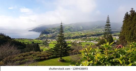 Landscape of Azores, Ponta Delgada, São Miguel island
