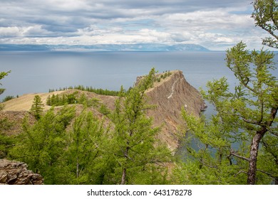 Landscape. Baikal. Island  Olkhon. Cape Hoboy. Another name of this cape is Canine.