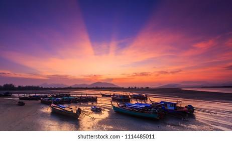 Landscape of Bangben bay at Ranong, Thailand