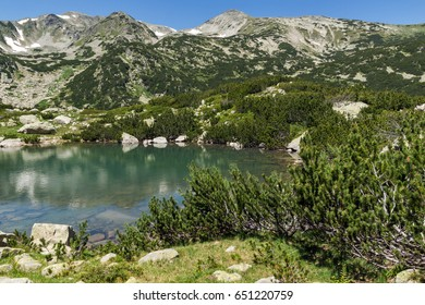 Landscape with Banski lakes and  Small Polezhan peak, Pirin Mountain, Bulgaria