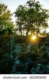 Landscape at the Bastei at the Sächsische Schweiz, Germany