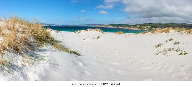 Landscape at the Beach of Laxe (in Spanish Praia de Laxe also Playa De Laxe) Northern Spain Galicia Costa da Morte