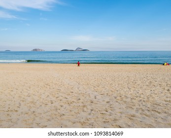 Landscape of beach and sea with people relaxing