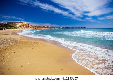 Landscape beach and sea in Spain on the Costa Blanca