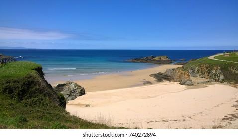 Landscape of the beach in Tapia de Casariego, Cantabrian Coast - Asturias, Spain