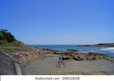 Landscape beautiful view and natural beach ,Kyushu Miyazaki