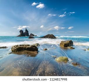 landscape of Benijo beach ,tenerife,Spain