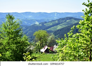landscape of Beskids mountains,here top of Solan,Czech republic