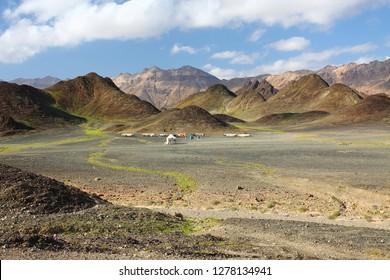 Landscape between Al Mukalla and Bir Ali, southern yemen