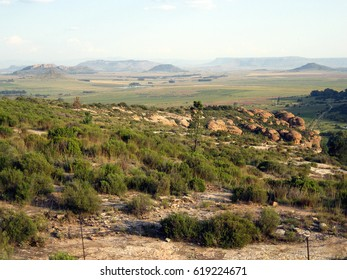 Landscape between Bloemfontein and Ladybrand, Free State, South Africa