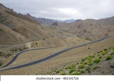 Landscape between Kagil and Lamayuru in Ladakh, India