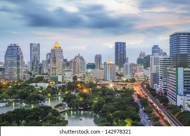landscape of big garden in Bangkok, Thailand