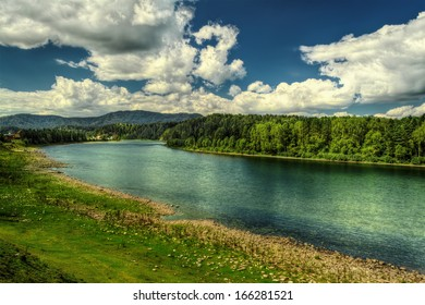 "The landscape of ""Biya"" river in Turochak village (Russia, Altay Republic)"