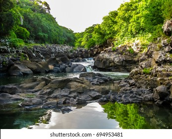 Landscape of the Black River Gorges National Park is the largest protected forest of Mauritius, Indian Ocean.
