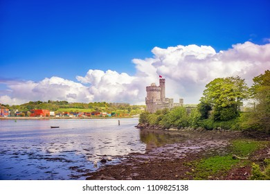 Landscape with a Black Rock Castle in a Cork. Ireland.