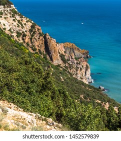 Landscape of the Black Sea coast in a Crimea.