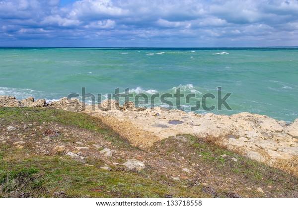 Landscape of the Black sea, Ukraine