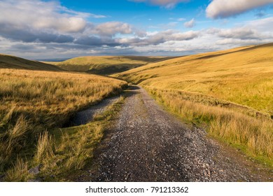 Landscape in the Brecon Beacons National Park on the way to Llyn y Fan Fach in Carmarthenshire, Dyfed, Wales, UK