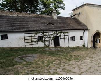 Landscape of Buchlov castle in czech republic.