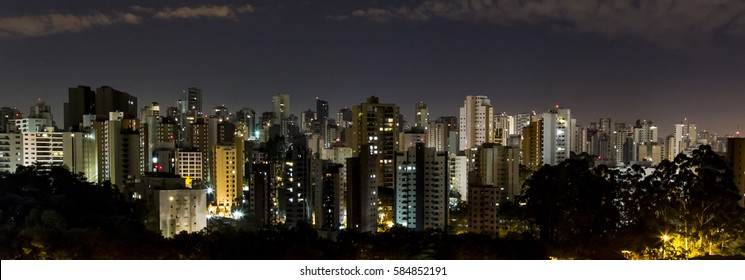 Landscape of Building from Sao Paulo city, Brazil, at night.