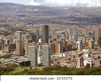Landscape of the buildings of the downtown in Bogota, Colombia.