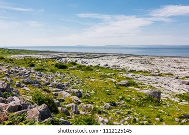 Landscape of Burren National Park in County Clare - Ireland
