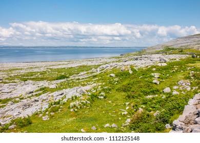 Landscape of Burren National Park in County Clare - Ireland