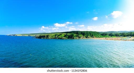 Landscape of Butamyata beach. Sinemorets, Bulgaria