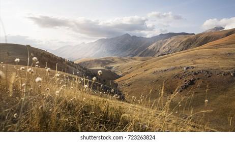 Landscape: Campo Imperatore, National Park of Gran Sasso, Abruzzo Italy