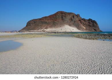 Landscape at the Campsite of Bir Ali, between Shabwah and Mukalla, south yemen