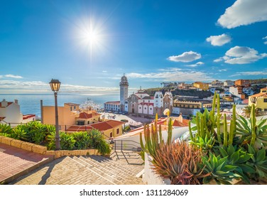 Landscape with Candelaria town on Tenerife, Canary Islands, Spain