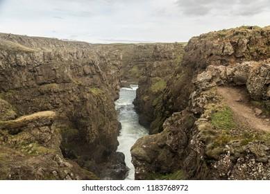 Landscape of Kolugljúfur Canyon, Iceland