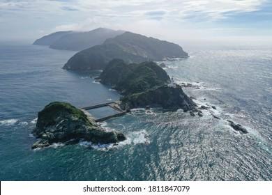 Landscape of Cape Sada Peninsula in Ehime Prefecture,Japan
