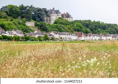 Landscape with castle in Chaumont sur Loire, France