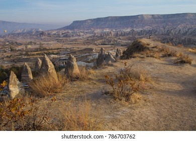 Landscape in the center of Turkey in the region of Cappadocia