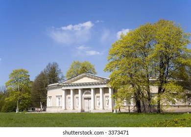 Landscape in the central park of St.-Petersburg