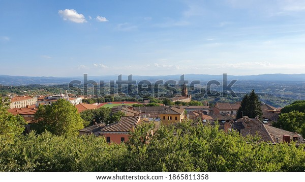 Landscape from the centre of Perugia with the Church of Santa Giuliana in the background.