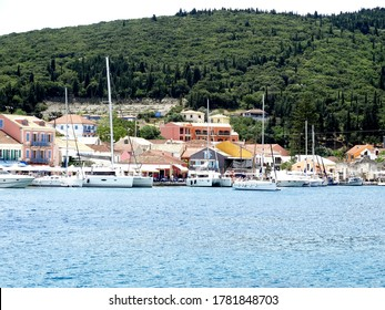 Landscape of Cephalonia village on Cephalonia island in Greece. Cephalonia is the largest of the Ionian Islands in western Greece.
