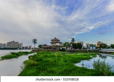 Landscape of Cheng Ching Lake (Chengching Lake) , Kaohsiung, Taiwan