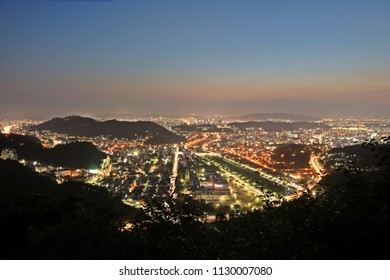 Landscape from Chimyeongjasan Holy Ground, Jeonju, South Korea