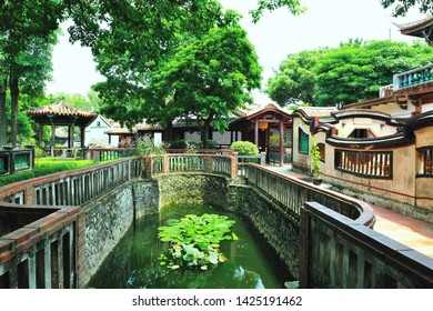 Landscape of Chinese Architectural Courtyard Garden
