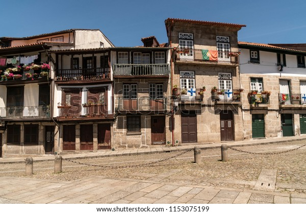 Landscape of the city of Guimarães in Portugal.