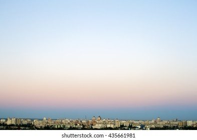 Landscape with clear sky in city