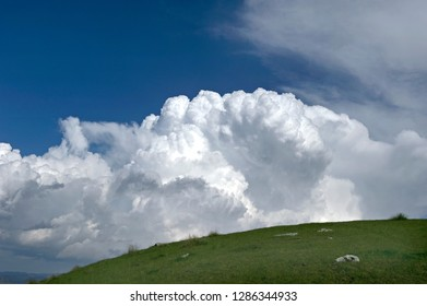 Landscape with clouds in the Durmitor Mountain Region