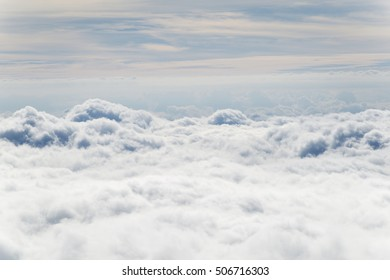 Landscape of clouds from the plane