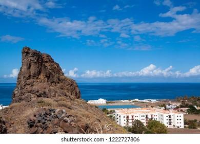 Landscape of the coast of Agaete in Gran Canaria.
