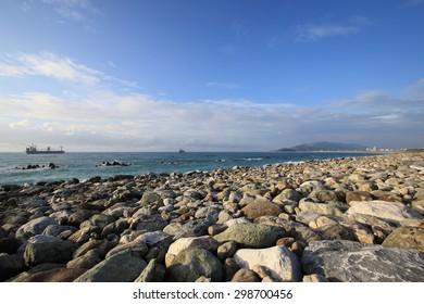 Landscape of the coast in Hualien City, Taiwan