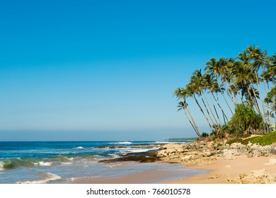 landscape of the coast of the Indian Ocean in Sri Lanka