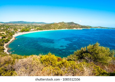 Landscape of coast of Sardinia - South coast Villasimius