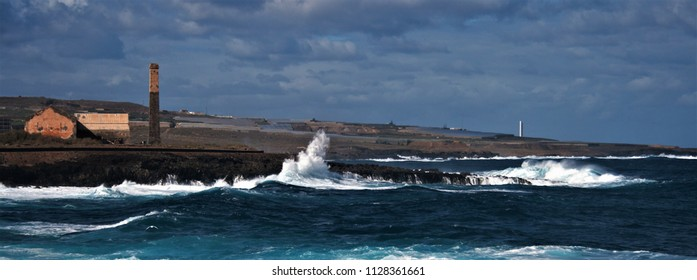 landscape of the coast of Tenerife in the Atlantic ocean